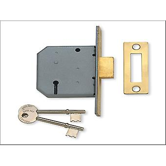 Yale 3 Lever Mortice Double Lock 3in Polished Brass P-M322-PB-78