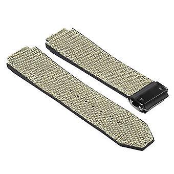 Strapsco dassari bracelet en toile pour hublot big bang avec fermoir noir mat