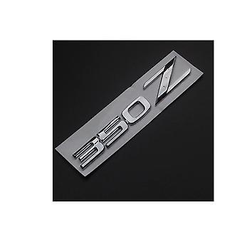Chrome Nissan 350 Z Rear Lid Boot Badge Emblem (140mm x 25mm)