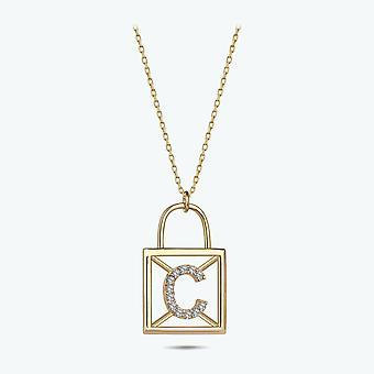 Buchstabe C Gold Halskette