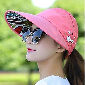 Lady Summer Travel Folding Women Outdoor Anti-ultraviolet Cotton Flower