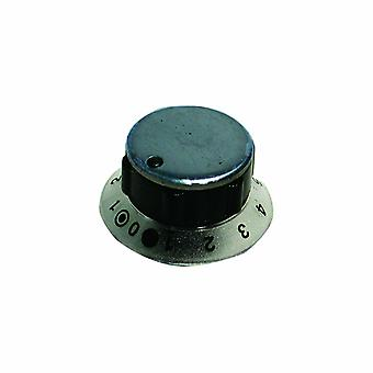 Zanussi Stainless Steel and Black Dual Hob Control Knob