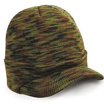 Männer Frauen Winter stricken Baggy Beanie Oversize Mode Hut Visier Cap