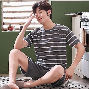 Summer Cotton Short-sleeve Shorts Pajamas Set/women Sleepwear