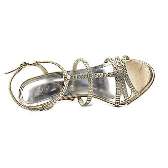 Caparros Groovy Women Open Toe Synthetic Gold Sandals