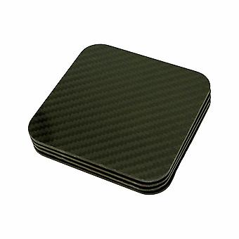 Carbon Fiber Coasters With Acrylic Display Holder