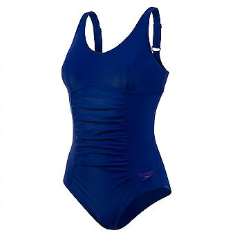 Speedo Naisten Vivienne Clipback Uinti Puku Sininen 8 11409A371