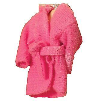 Dolls House Syvä vaaleanpunainen aamutakki Kylpytakki 1:12 Makuuhuone Lisävaruste