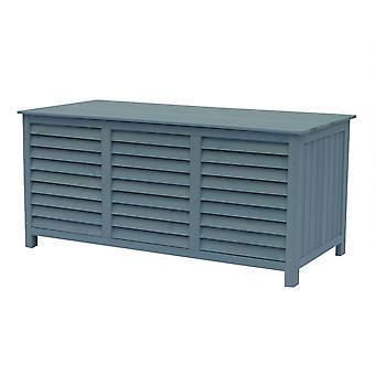 """Baúl garten en madera """"Macao"""" - 130 x 64 x 60 cm - Azul cielo"""