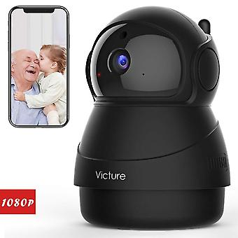 Victure 1080p fhd wifi ip camera baby monitor with night vision motion detection 2-way audio black