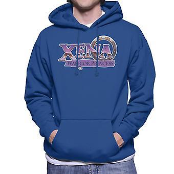 Xena Warrior Princess Purple Logo Men's Hooded Sweatshirt