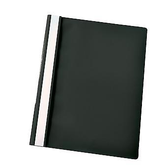 Rapid Flat File Polypropylene A4 Black Pack of 25