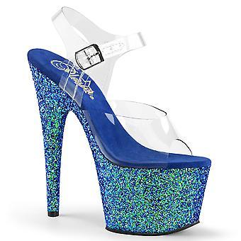 Pleaser Scarpe donna ADORE-708LG Clr/Blue Multi Glitter