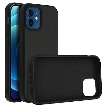 Back Cover For Apple iPhone 12/12 Pro Flexible Shockproof Rhinoshield black
