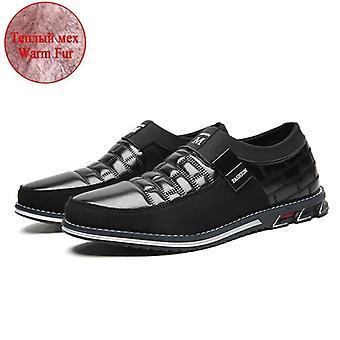Férfi valódi bőr cipő kiváló minőségű rugalmas szalag divat design szilárd