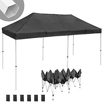Instahibit 10x20 ft Pop Up Canopy Tent CPAI-84 Commercial Ez Pop up Canopy Shade Trade Fair Party Tent