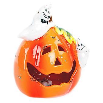 Halloween Decorations DKD Home Decor Ceramic Pumpkin (13 x 11 x 15 cm)