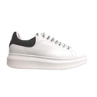 Women's Sneakers With Zeppa Gaëlle In White Faux Leather Ds21ge02 Gbds2254