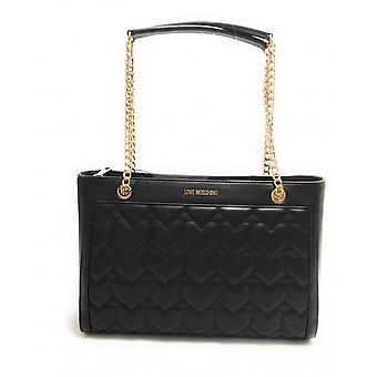 Женская сумка Любовь Moschino Шоппинг Эко-кожа Стеганый Черный Bs21mo61 Jc4251