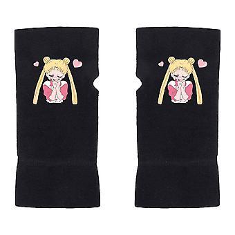Half-finger Gloves Girl Printed