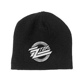 ZZ Top Beanie Hat Circle Band Logo new Official Black Unisex