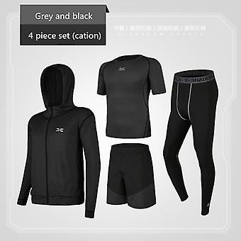 Running Sets Men's Gym Sportswear Suit, Fitness T-shirt, Shorts, Sports
