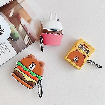Case For Airpods Shockproof / Pattern / Lovely Headphone Case Soft
