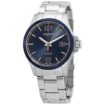 Longines Conquest V.H.P. Perpetual Quartz Blue Dial Men's Watch L3.729.4.96.6