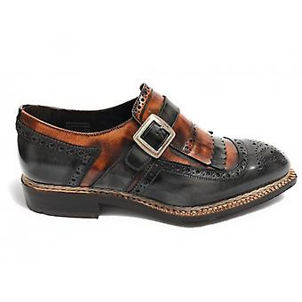 Men's Shoes Harris Hand-worked buckle Two-tone Shade Grey and Shade Linen U17ha70
