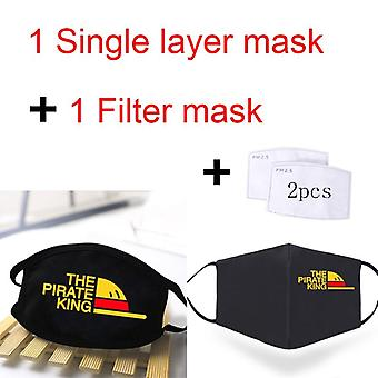 One Piece Print Masks, Washable, Face Masque, Anti-dust, Windproof, Reusable
