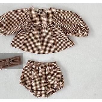 Baby Clothes, Little Plaid Clothes Set, Toddler Suit