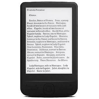 4,3 inch e-inkt ebook lezer 800x600 ereader elektronisch papieren boek met voorlicht pu cover (8g)