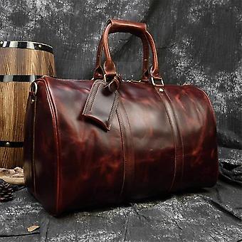 Maheu hommes véritable sac de voyage en cuir voyage tote grand sac week-end homme peau de vache sac à main bagages à main sacs à main masculins grand 60cm