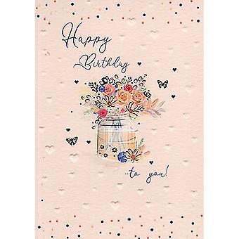 ICG Ltd Pretty In Peach Birthday Card-floral