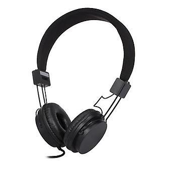 EP05 bærbar sammenleggbar kablet on-ear headset med mikrofon