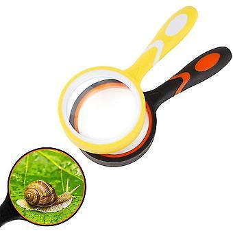 Handheld Leselupe, 2 stucke Leselupe fr Kinder Senioren, Handleselupe, Echtglas Lupe, Bruchsichere