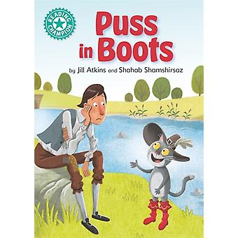 Reading Champion Puss saappaissa kirjoittanut Jill Atkins
