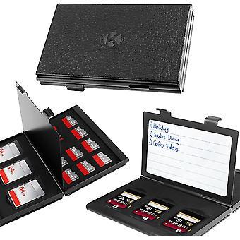 Wokex Premium Schützendes Gehäuse für Aluminium Speicherkarte Tragetasche mit anpassbarem Innerem