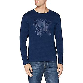 Pioneer T-Shirt Longsleeve Rundhals, Indigo Blue, XXL Men's