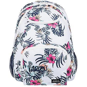 Roxy Shadow Swell Backpack in Bright White Badami