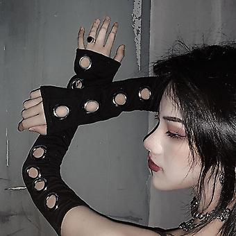 Unisex Eyelet Arm Warmer Hollow Out, длина локтя, рукава-манжеты