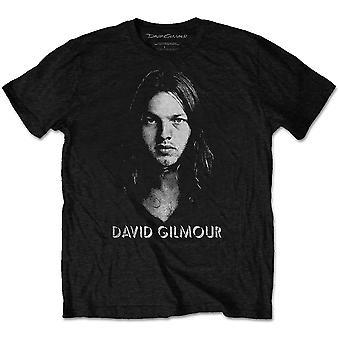 David Gilmour - Half-tone Face Men's Large T-Shirt - Black