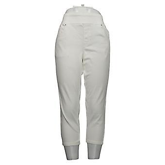 Belle Av Kim Gravel Kvinners Jeans Beskåret Jegging Hvit A307379