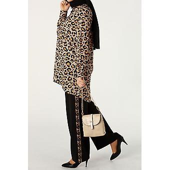 Leopard Patterned Hijab Suit