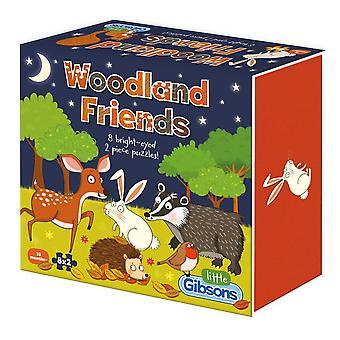 Gibsons Woodland Friends pussel (8 x 2 stycken)