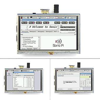 Écran tactile résistif de 5 pouces Écran LCD HDMI pour Raspberry Pi Xpt2046