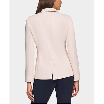 Tommy Hilfiger Womens Patch Pocket Two-Button Blazer