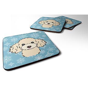 Caroline's Treasures BB1692FC Fiocco di neve Buff Poodle Foam Coasters (Set di 4), 3.5, Multicolor