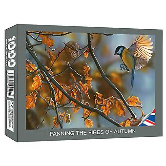 FANNING THE FIRES OF AUTUMN - 1000 piece JIGSAW PUZZLE - Artwork by Ian Kent