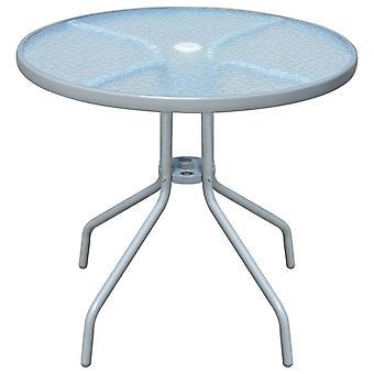 vidaXL Garden Table 80 x 71 cm Steel Round Grey